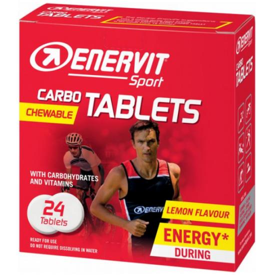 ENERVIT Sport CARBO TABLETS - limona