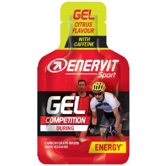 ENERVIT Sport GEL COMPETITION s kofeinom- agrumi