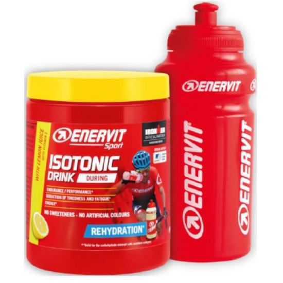 ENERVIT Sport ISOTONIC DRINK -  limona 420 g + BIDON